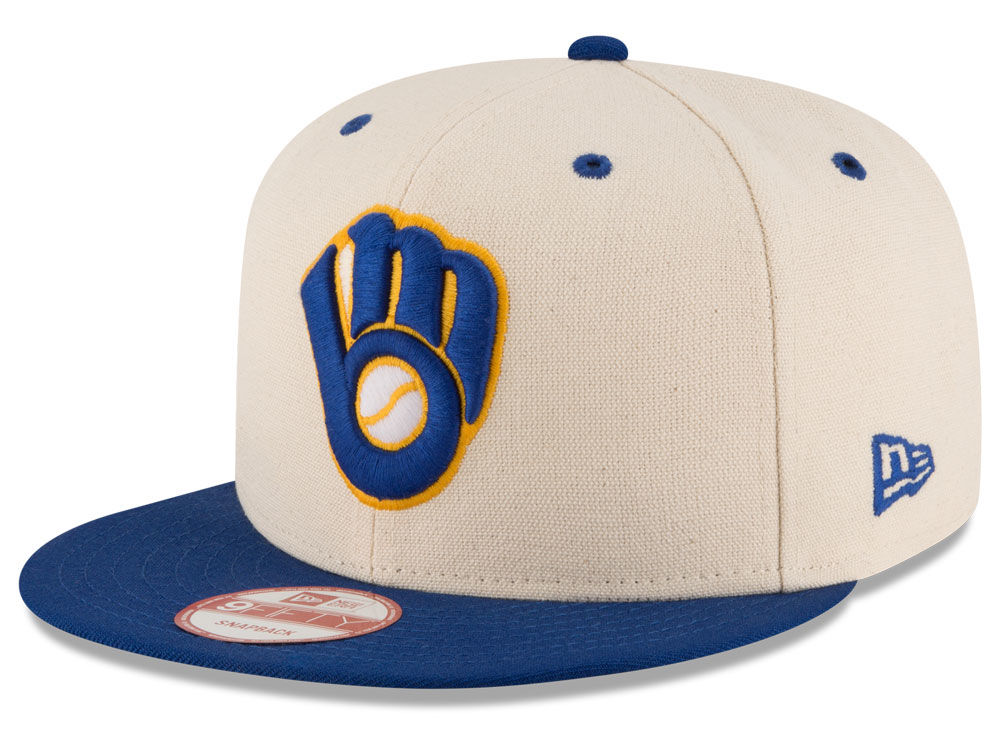 separation shoes 66614 8323b best Milwaukee Brewers New Era MLB Inlinen Color 9FIFTY Snapback Cap