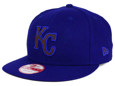 Kansas City Royals MLB Smoove Leather Logo 9FIFTY Snapback Cap Hats
