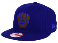 New Era MLB Smoove Leather Logo 9FIFTY Snapback Cap Adjustable Hats