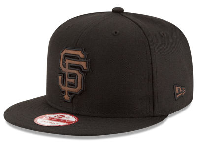 San Francisco Giants MLB Smoove Leather Logo 9FIFTY Snapback Cap Hats