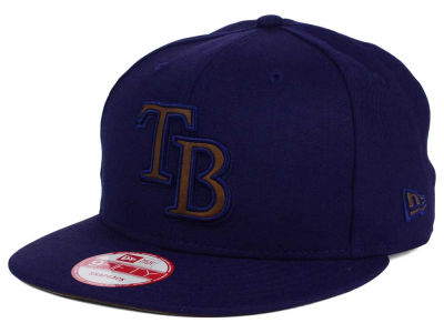 Tampa Bay Rays MLB Smoove Leather Logo 9FIFTY Snapback Cap Hats