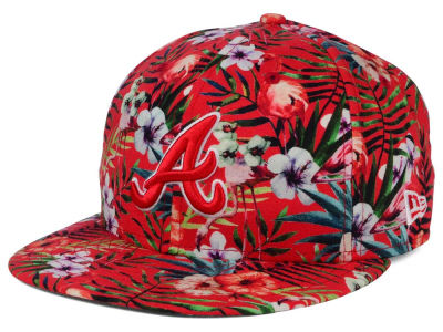 Atlanta Braves MLB Troppin Hot 9FIFTY Snapback Cap Hats