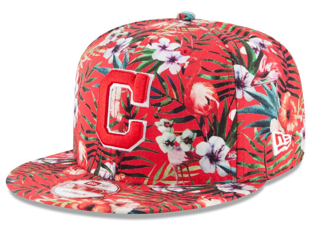 4fa32323c9710 70%OFF Cleveland Indians New Era MLB Troppin Hot 9FIFTY Snapback Cap ...