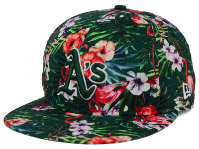 Oakland Athletics MLB Troppin Hot 9FIFTY Snapback Cap Hats