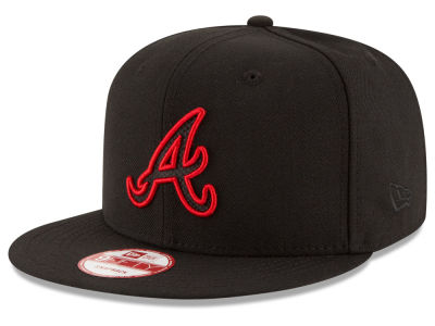 Atlanta Braves MLB Black Diamond 9FIFTY Snapback Cap Hats