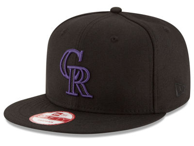 Colorado Rockies MLB Black Diamond 9FIFTY Snapback Cap Hats