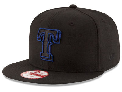 Texas Rangers MLB Black Diamond 9FIFTY Snapback Cap Hats
