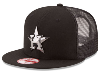 Houston Astros MLB Metal Trucker 9FIFTY Snapback Cap Hats