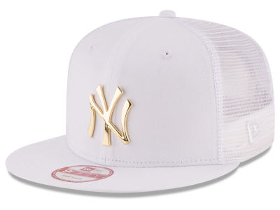 New York Yankees MLB Metal Trucker 9FIFTY Snapback Cap Hats