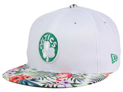 Boston Celtics NBA HWC White Out Trop 9FIFTY Snapback Cap Hats
