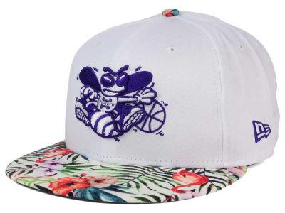 Charlotte Hornets NBA HWC White Out Trop 9FIFTY Snapback Cap Hats