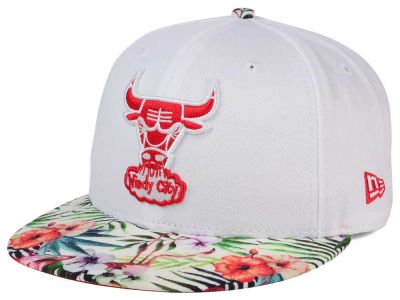 Chicago Bulls NBA HWC White Out Trop 9FIFTY Snapback Cap Hats