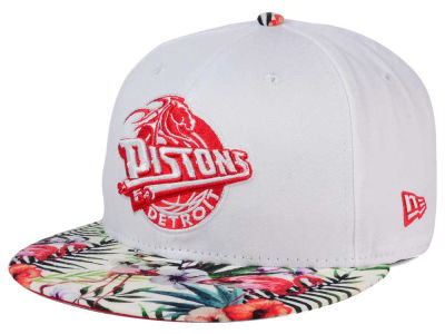 Detroit Pistons NBA HWC White Out Trop 9FIFTY Snapback Cap Hats