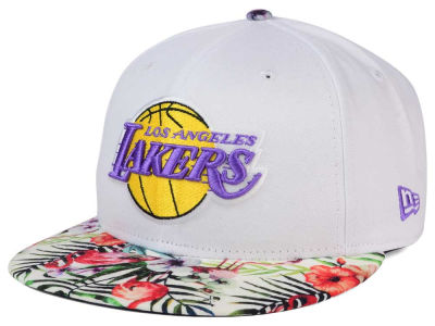 Los Angeles Lakers NBA HWC White Out Trop 9FIFTY Snapback Cap Hats