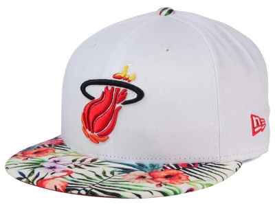 Miami Heat NBA HWC White Out Trop 9FIFTY Snapback Cap Hats
