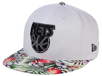 New Jersey Nets NBA HWC White Out Trop 9FIFTY Snapback Cap Hats