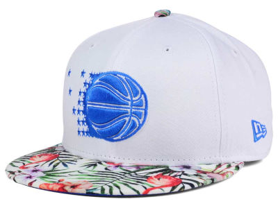 Orlando Magic NBA HWC White Out Trop 9FIFTY Snapback Cap Hats