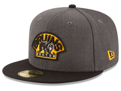 Boston Bruins NHL Team Heather Patch 59FIFTY Cap Hats