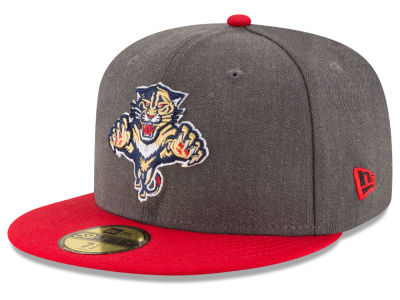 Florida Panthers NHL Team Heather Patch 59FIFTY Cap Hats