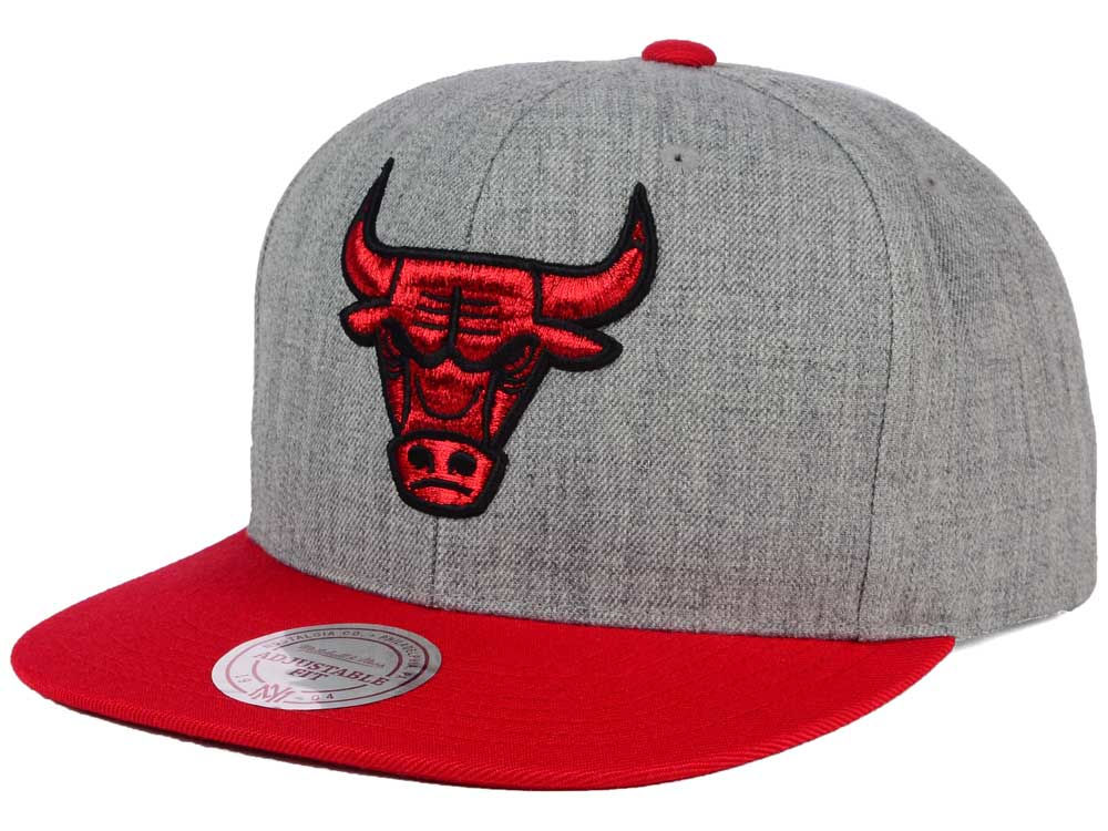 official photos 3507b 02d1c low-cost Chicago Bulls Mitchell and Ness NBA Heather Metallic Snapback Cap