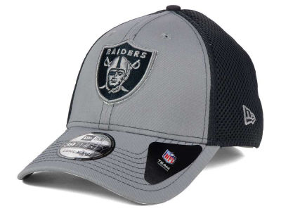 Oakland Raiders NFL Grayed Out Neo 39THIRTY Cap Hats