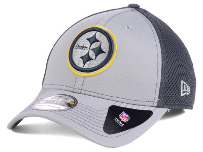 Pittsburgh Steelers NFL Grayed Out Neo 39THIRTY Cap Hats