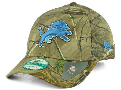 Detroit Lions NFL The League Realtree 9FORTY Cap Hats