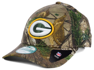 Green Bay Packers NFL The League Realtree 9FORTY Cap Hats