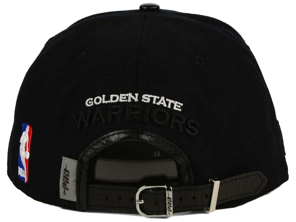 size 40 273e5 756cb ... discount code for lovely golden state warriors pro standard nba black  on black leather strapback cap