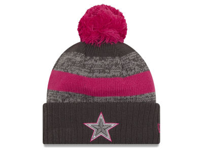 Dallas Cowboys NFL Breast Cancer Awareness Official Pom Knit Hats