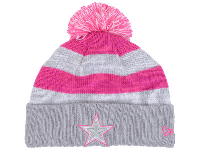 Dallas Cowboys NFL Women's Breast Cancer Awareness Knit Hats
