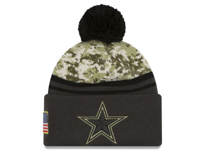 Dallas Cowboys NFL Salute to Service Official Pom Knit Hats