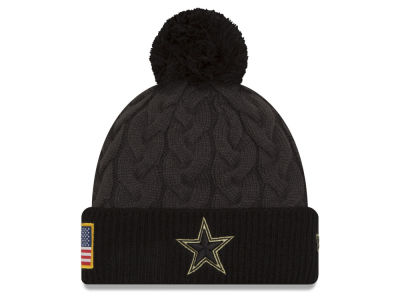 Dallas Cowboys NFL Salute to Service Women's Pom Knit Hats