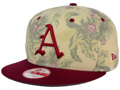 Arkansas Razorbacks NCAA Faded Trop 9FIFTY Snapback Cap Hats