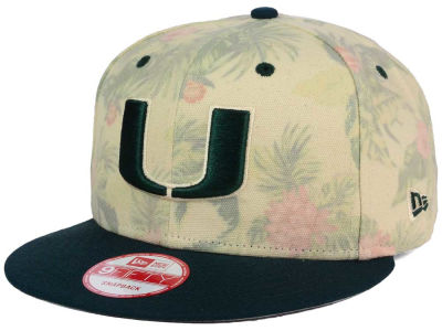 Miami Hurricanes NCAA Faded Trop 9FIFTY Snapback Cap Hats