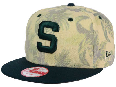 Michigan State Spartans NCAA Faded Trop 9FIFTY Snapback Cap Hats