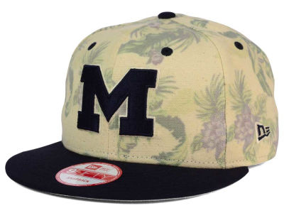 Michigan Wolverines NCAA Faded Trop 9FIFTY Snapback Cap Hats