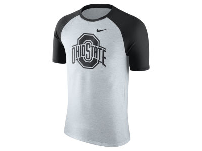 Nike NCAA Men's Triblend Oatmeal Jersey Hook Raglan T-Shirt