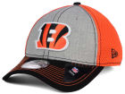 Cincinnati Bengals New Era NFL Heathered Neo 39THIRTY Cap Stretch Fitted Hats