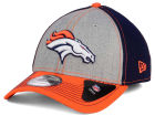 Denver Broncos New Era NFL Heathered Neo 39THIRTY Cap Stretch Fitted Hats
