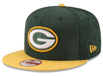 Green Bay Packers NFL Summer Suede 9FIFTY Snapback Cap Hats