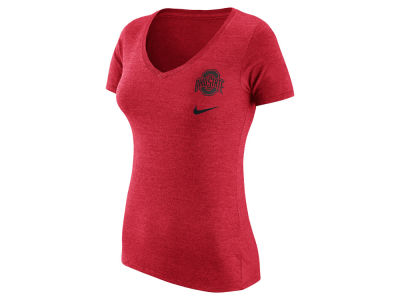 Nike NCAA Women's Triblend Mid-V Flash Bomb Hook T-Shirt