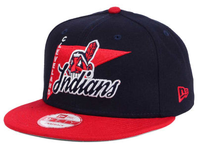 Cleveland Indians MLB Logo Stacker 9FIFTY Snapback Cap Hats