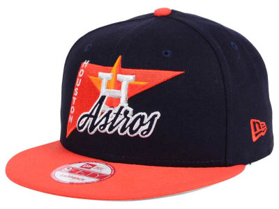 Houston Astros MLB Logo Stacker 9FIFTY Snapback Cap Hats