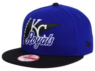 Kansas City Royals MLB Logo Stacker 9FIFTY Snapback Cap Hats