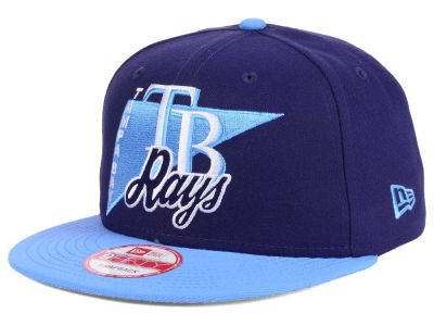 Tampa Bay Rays MLB Logo Stacker 9FIFTY Snapback Cap Hats