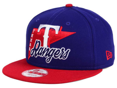 Texas Rangers MLB Logo Stacker 9FIFTY Snapback Cap Hats