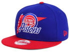 Detroit Pistons New Era NBA HWC Logo Stacker 9FIFTY Snapback Cap Adjustable Hats