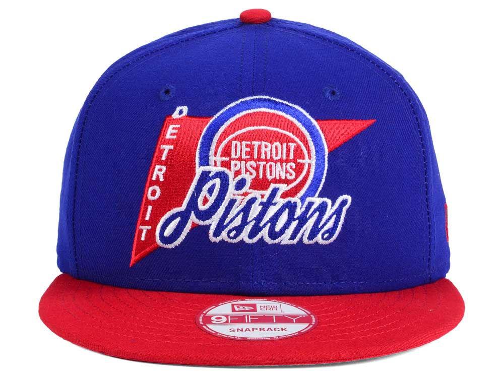 new concept e82b4 79aa7 on sale Detroit Pistons New Era NBA HWC Logo Stacker 9FIFTY Snapback Cap