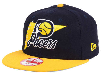 Indiana Pacers NBA HWC Logo Stacker 9FIFTY Snapback Cap Hats